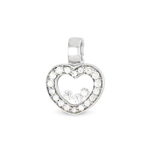 Tous mes bijoux - Pendentif seul (sans chaîne) - Or blanc 18 cts - Diamant 0.42 cts - PDTHR01005