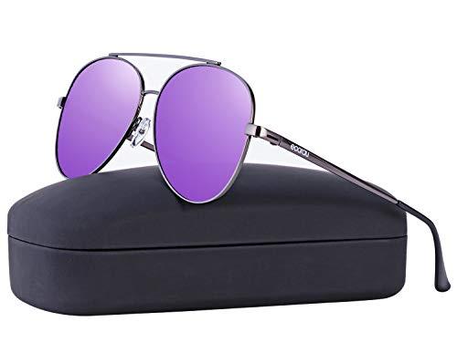 EOORAU Womens Aviator Sunglasses Polarized Mirrored for Mens Travel,Drive,Fishing Sun GlassesUV-400 (1)