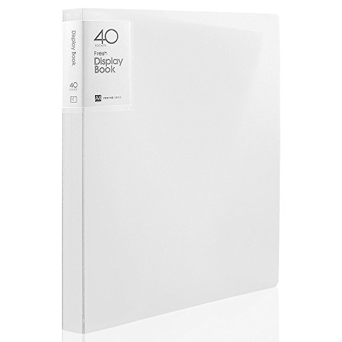 40 Folders - Shuter 40-Pocket Protector Presentation Book A4 Size 80-Page Capacity Available for Report Sheets, Artworks, Music Sheets, Clippings