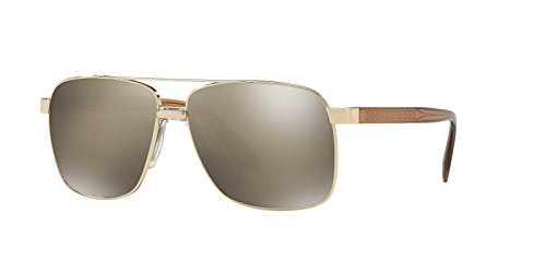 Versace Mens Sunglasses Gold/Gold Metal - Non-Polarized - - Gold Sunglasses Versace