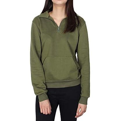 Smile Fish Women Teddy Fleece Quarter-Zip Sweatshirts Long Sleeve Lightweight Pullover Top 1
