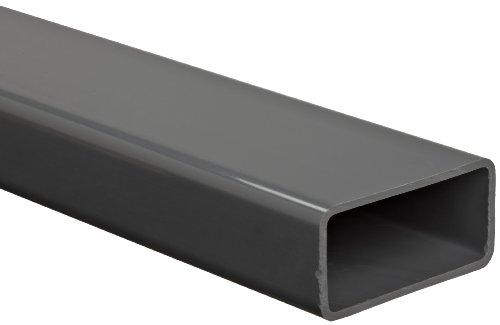 PVC Hollow Rectangular Bar, Gray, NSF 61, 2