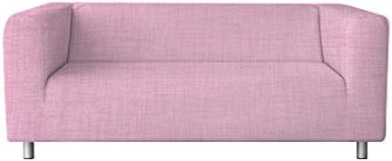 Klippan Loveseat Slipcover for The IKEA 2 Seater Klippan Loveseat Sofa Cover Replacement-Polyester Pink