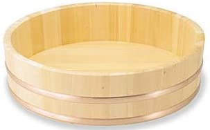 椹 さわら 大半切 銅タガ 底竹補強付き 約φ60×H16.5cm