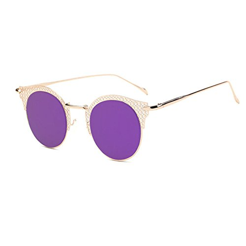 Aoligei Europe et lady rétro de l'United States Classic mode homme lunettes de soleil couple classique de la grande boîte en métal C