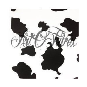 ArtOFabric Decorative Cotton Tablecloth in Cow Print (Cow Print Tablecloths)