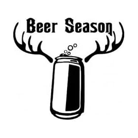 Beer Season Vinyl Decal Sticker|Cars Trucks Vans Walls Laptops Beer Fridge|BLACK|5.5 In|5.5 In|KCD587