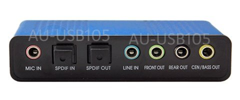 USB Surround Sound Converter with Digital Optical Audio Input Output