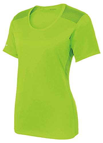 DRIEQUIP Ladies Moisture Wicking Elevate Scoop Neck Tee-XS-LimeShock