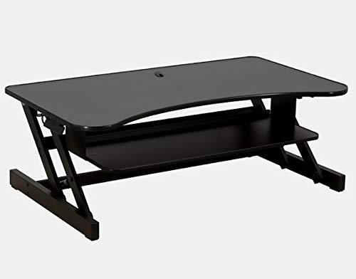 Metal Desk with Lift Top - Rectangular Standing Desk - Black