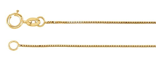 14k Yellow Gold Solid Box Chain Link 20'' by The Men's Jewelry Store (for HER)