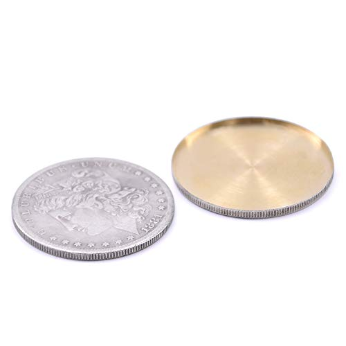 Expanded Shell for Appearing/Disappearing Magic Accessories for Coin Magic (1pc Shell + 1pc Morgan Coin)