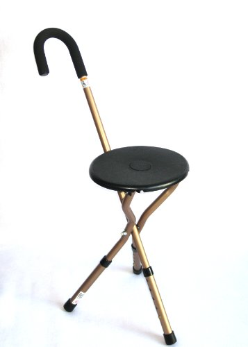 Harvy Seat Cane with Adjustable Legs - 225lbs Weight Max. by Harvy Canes