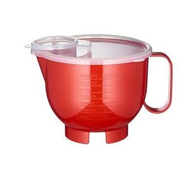Jarra para microondas con tapa roja a prueba de manchas (2 L ...