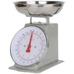 Kitchen Scale White Metal With A Stainless Steel Tray (11-Pound) (SILVER)