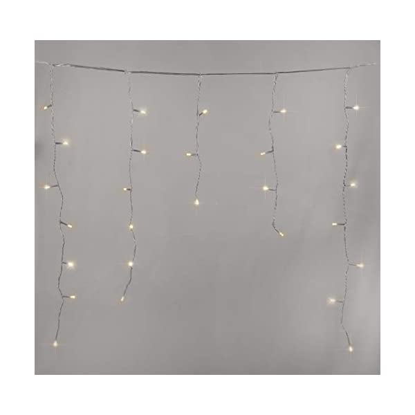 500 LED Tenda luminosa, Luci natalizie per interni e esterni,bianco Caldo con 8 modalità luce/timer, Memoria, trasformatore incluso, 17 M lunghezza- Cavo transparente 4 spesavip