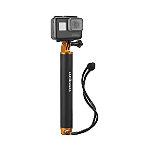 """Luxebell Selfie Stick Telescopic Pole 6.6"""" - 18.1"""" Pocket Purse Size with Phone Clip Holder for Gopro Hero 4, Session, Black, Silver, Hero+ Lcd, 3+, 3, 2, 1 Camera and Cellphone"""