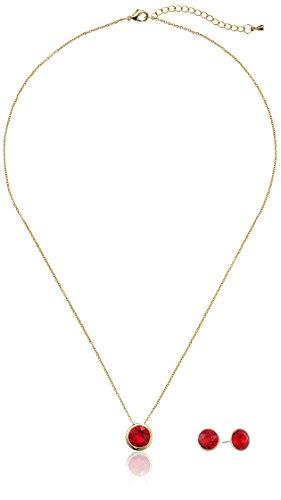 Oroclone 14k Gold Plated Swarovski Light Siam Birthstone ...