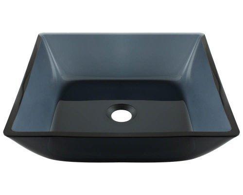 Polaris Sinks P036 Black Square Vessel Bathroom Sink by Polaris Sinks by Polaris Sinks