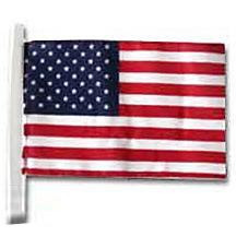 US Antenna Flag for Parades and Car Lots (12 in. x 18 in.)