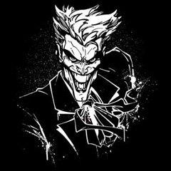 Batman DC Comics JOKER'S SPLATTER SMILE Adult Black T-shirt Tee, 2XL