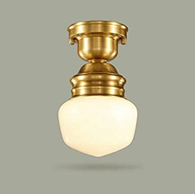 Jingzou Led ceiling lamp European small living room balcony kitchen corridor entrance staircase light glass lamp