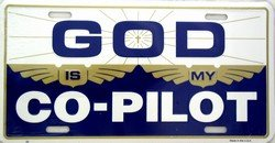 God Is My Co Pilot License Plate