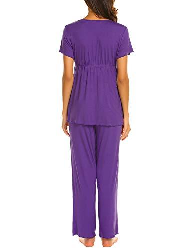 Unibelle Pezzi Corte Pigiama Purple Donna Medium Maniche Due vRrHzwcqv