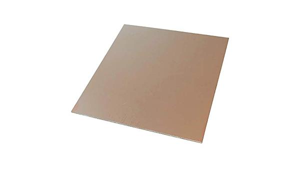 AERZETIX Placa Hojas de Cobre para Circuito Impreso 420//297//0.6mm 18/µm Resina epoxi de Fibra de Vidrio C40571