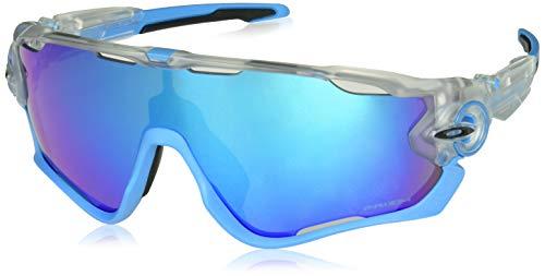 707b57314e Oakley Men's Jawbreaker Non-Polarized Iridium Rectangular Sunglasses  Crystal Pop ...
