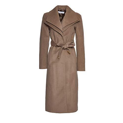 T Tahari Womens Alice Wool-Blend Coat Tan (M)