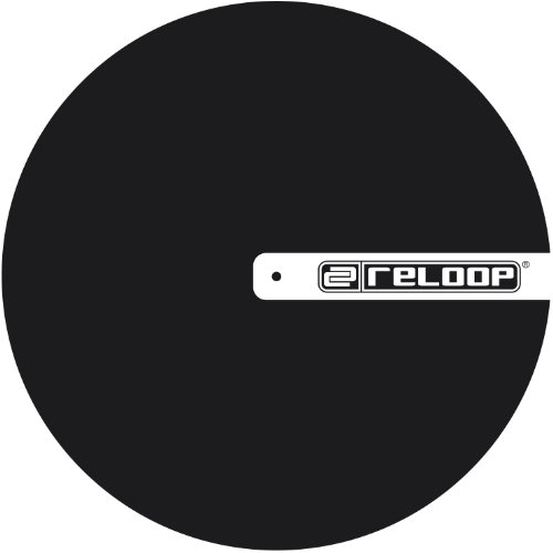Logo Dj Slipmat - Reloop Slipmat for DJ Turntablism, Black with Logo
