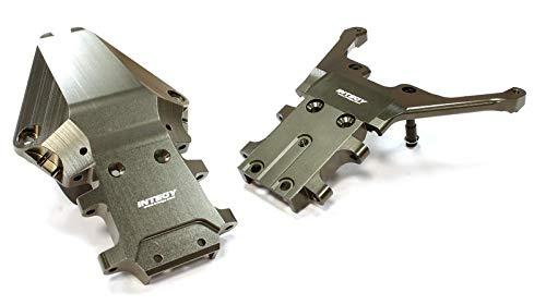 Traxxas Rear Bulkhead - Integy RC Model Hop-ups T8656GREY Billet Machined Fr. & Rr. Bulkhead for 1/10 Slash 4X4 & Stampede 4X4 (Non-LCG)