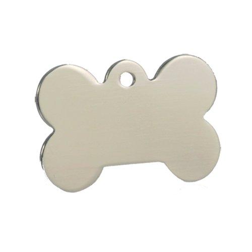 - Dog Tags 10 Silver Bone Pet Tag Blanks