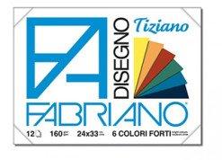 Fabriano F4 Liscio Album da Disegno, 24 x 33 cm, Set da 2 Blocchi