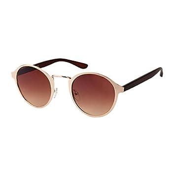 Sonnenbrille Vintage 400 UV Panto Metallrahmen getönt Bogensteg round glasses braun 6HKRW