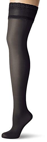 GLAMORY Damen Halterlose Stütz-Strümpfe Vital 40 DEN, Schwarz (Schwarz), Medium (Herstellergröße: M-(40-42))