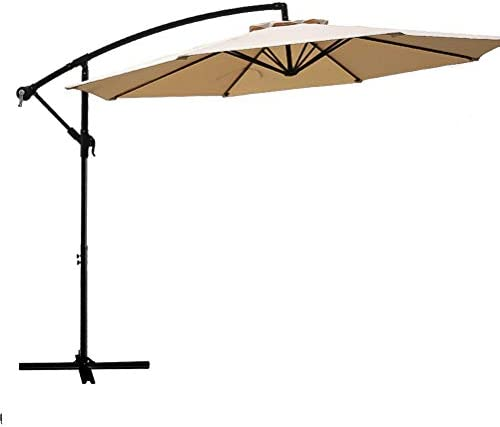 FLAME SHADE 10 ft Cantilever Hanging Offset Outdoor Patio Umbrella