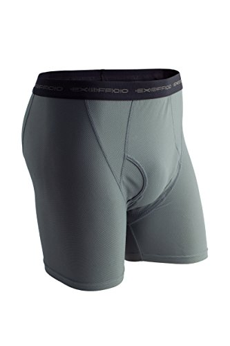 ExOfficio Men's Give-N-Go Boxer Brief, Charcoal, Large