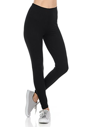 bluensquare Leggings for Juniors & Teens Premium Soft 4 Way Stretched One Size Full length-Amazon Famous Buttery soft leggings (Black, One Size | Regular) -