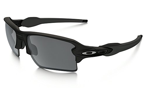 Oakley Flak Jacket 2.0 XL Sunglasses Matte BLK / BLK Irid. & Cleaning Kit - Flak Black Matte Jacket Oakley