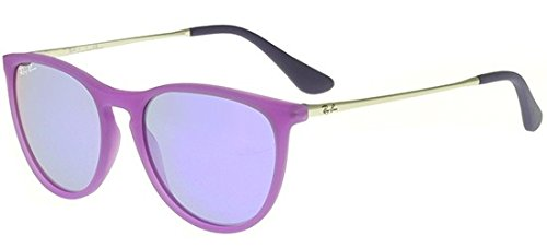 Ray-Ban Girl's Izzy Junior Sunglass 0RJ9060S Round Sunglasses, Violet Fluo Transparent Rubber V, 50 mm by Ray-Ban