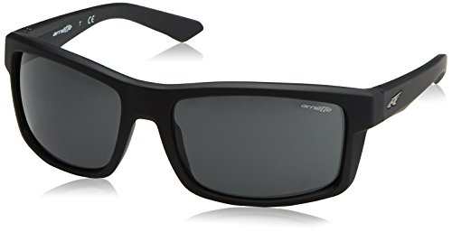 Arnette Men's Corner Man Rectangular Sunglasses, Fuzzy Black, 61.1 - Arnet Sunglasses