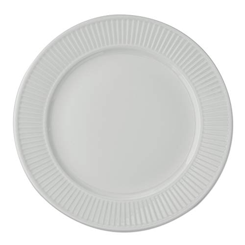 Pillivuyt, Plissé White Porcelain Dinner Plate, 11 Inches Diameter