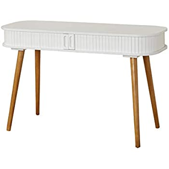 "Amazon.com: TMS Edie Mid-Century Home Office Desk Entryway Table, 47"" W, White/Walnut: Kitchen ..."
