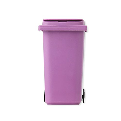PYD Mini Garbage Can Home Office Desk Table Pen Pencil Holder Organizer Stationery Storage Basket Case