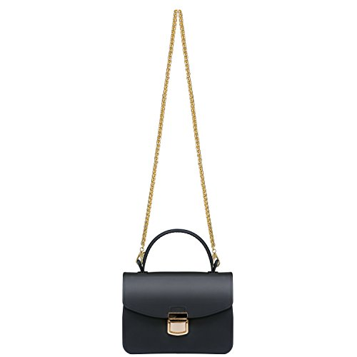 Top Handle Clutch Handbags Jelly Crossbody Bags for Women Tote Purse - Black by Chrysansmile (Image #4)