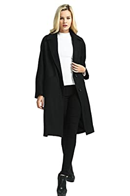Grace Women's Woolen Long Coat Woolen Warm Jacket Oversized Coat