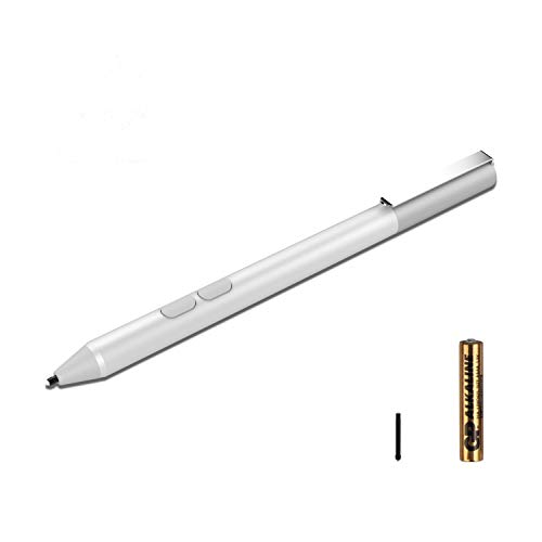 Microsoft Surface Pen Aluminium Alloy Model with 4096 Levels of Pressure Sensitivity, 2 Soft Nibs for Surface 3, Surface Pro 3 & Pro 4 & Pro(2017), Surface Book, Surface Laptop/Studio (Silver)