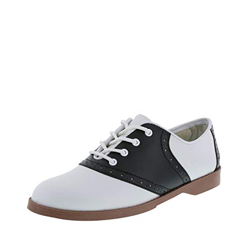 Predictions Women's Black/White Saddle Oxford 5.5 M US -